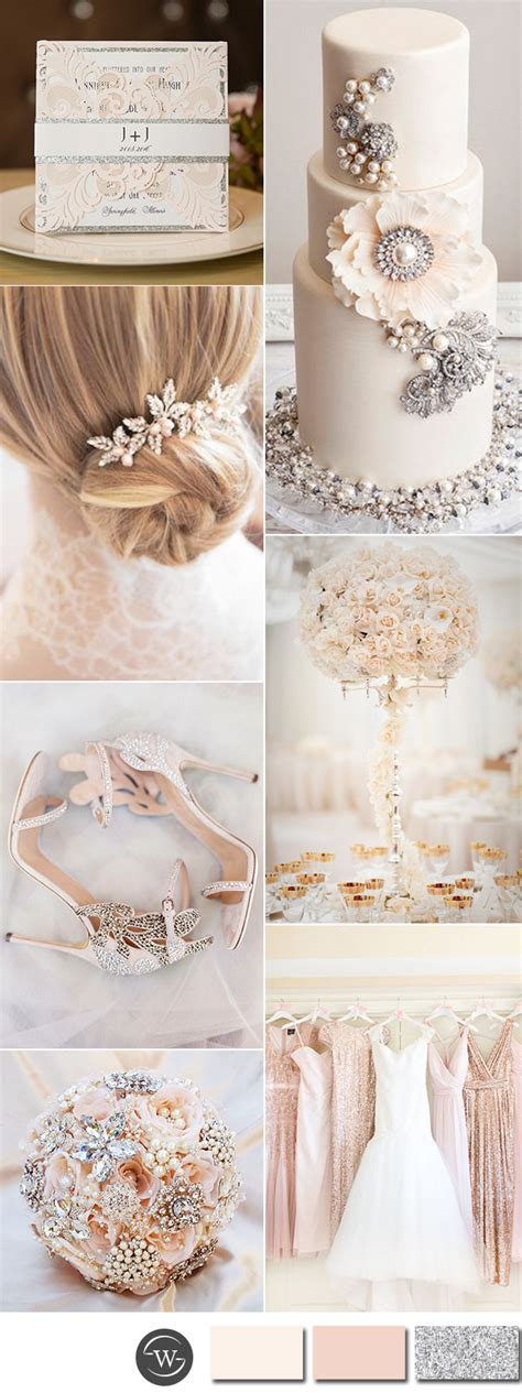 wedding color idea pink and grey white silver oooo now six beautiful pink and grey wedding color combos with