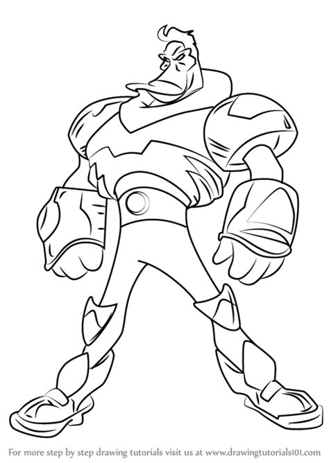 mighty ducks coloring pages step by step how to draw wildwing flashblade from mighty