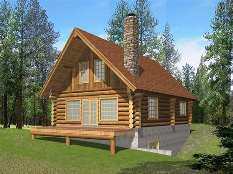 questover log cabin home plan 088d 0053 house