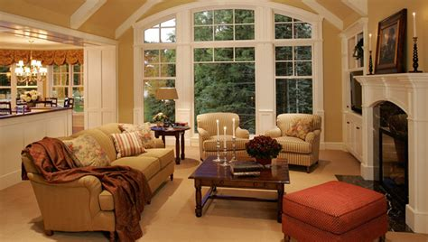 traditional living room new home construction cottage style traditional living