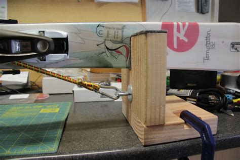 homemade ski tuning bench diy ski vise 5 steps with pictures