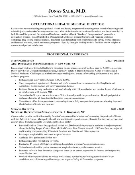 medical doctor curriculum vitae exle resume cover
