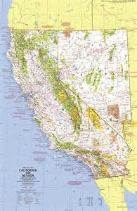 up usa california and nevada map