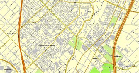 map us dallas vector map dallas tx us cityplan 3mx3m ai pdf 6
