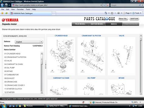 Sparepart Yamaha Mio Sporty parts catalogue yamaha gak perlu capek2