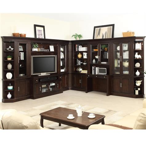 parker house furniture parker house stanford wall unit with tv console and built in desk fashion furniture