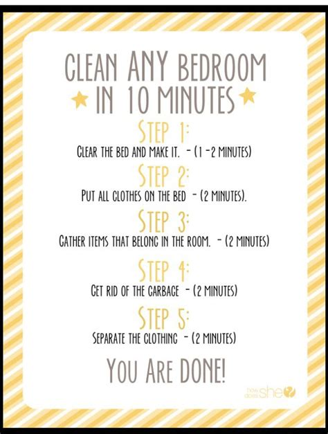 10 steps to clean your room quickly clean a room http www howdoesshe how to
