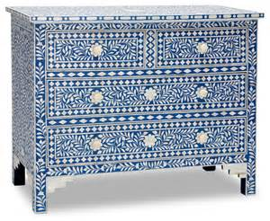Home Theatre Sofas Sapphire Amp Bone Inlay Chest Of Drawers Contemporary