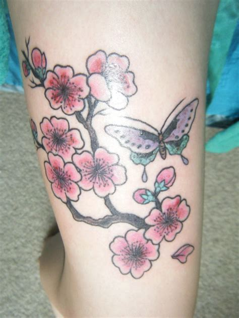 butterfly tattoo cherry blossom tattoo pictures by alex may tattoo compi