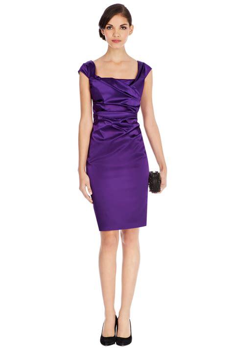 Purple Satin Dress lyst coast alva duchess satin dress in purple