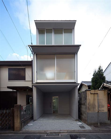 town house alphaville slots kyoto town house into a narrow residential plot