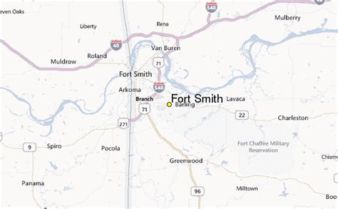 fort location map fort smith weather station record historical weather for