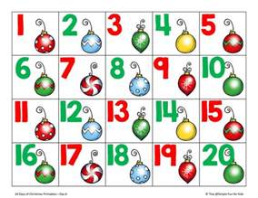 christmas countdown day 6 christmas ornament number cards 1 20 simple fun for kids
