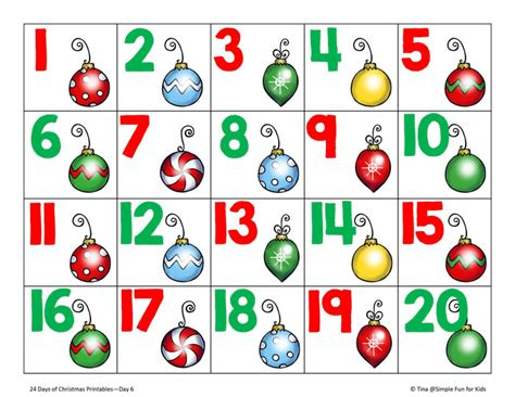 Printable Christmas Number Cards | free worksheets 187 printable numbers 1 to 10 free math