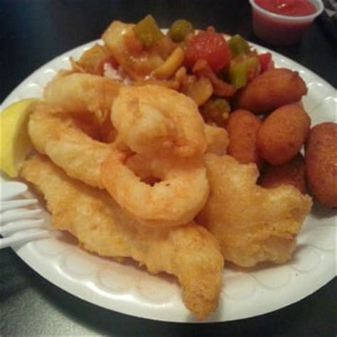 shrimp hush puppies mrs fish seafood grill yelp