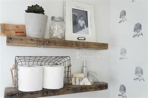 diy rustic bathroom shelves seeking lavendar lane