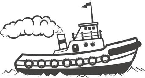 tow boat drawing royalty free cartoon of tug boat clip art vector images