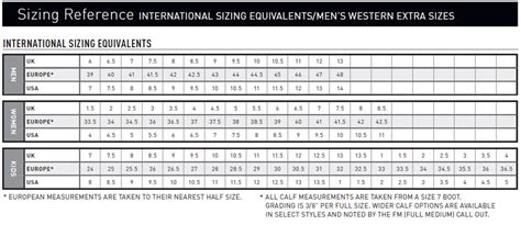 boot sizing cowboy boot sizing cr boot