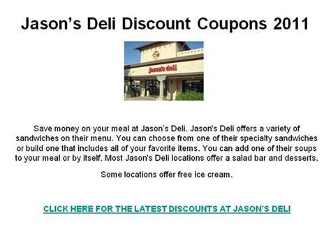 Jason S Deli Gift Card Discount - jason s deli discount coupons 2011 authorstream