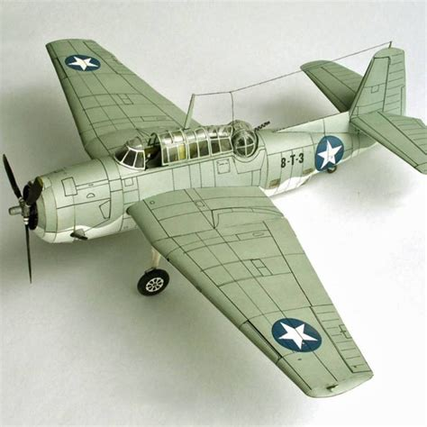 Papercraft Aircraft - new 3d paper model aircraft 1 33 scale world war ii us tbm