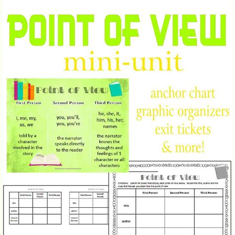 point  view mini unit  curriculum corner