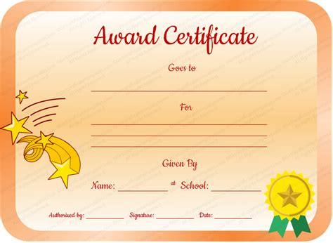 free award certificate templates for students value award certificate template for students