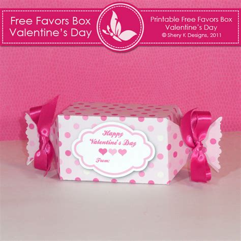 free printable box valentine s day shery k designs