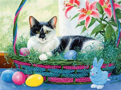 cat easter wallpaper easter days wallpapers wallpapers 5