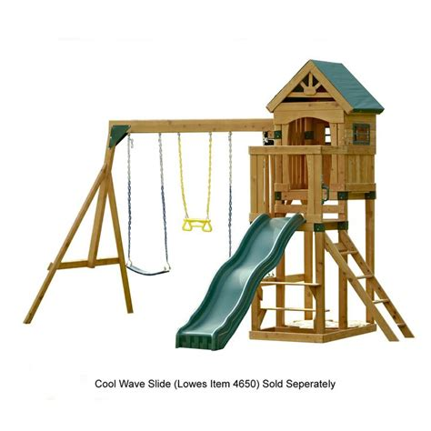 playset without swings swing n slide woodland clubhouse ready to assemble