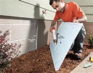 Foundation insulation panels the family handyman