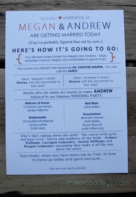 Creative Wedding Programs on Pinterest