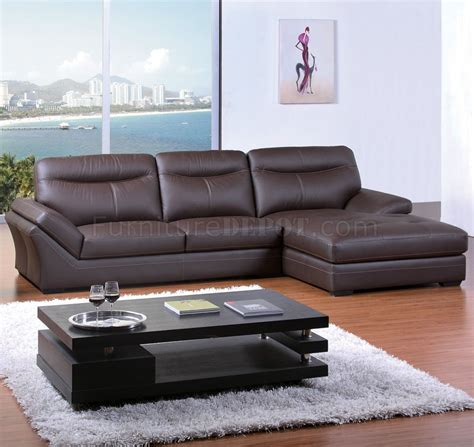 elegant sectionals chocolate bonded leather modern elegant sectional sofa