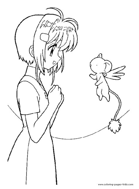 free coloring pages of card captors