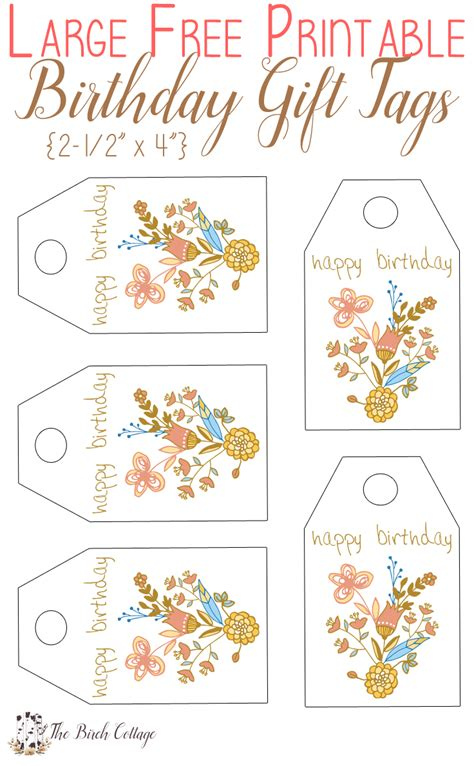 printable anniversary gift tags free printable birthday gift tags just for you the