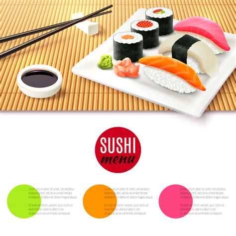 Stuoia Sushi - stuoia di bamb 249 e sushi scaricare vettori gratis