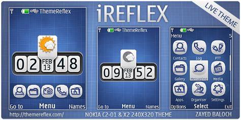 nokia c2 menu themes ireflex theme for nokia x2 00 c2 01 and 240 215 320 themereflex