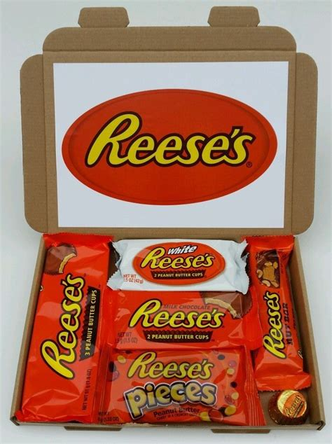 christmas present american sweets reeses peanut butter lovers gift box hamper  home