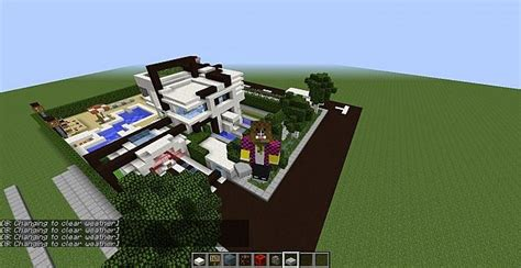 mc house tkmanor a modern house in mc by herpity san part 1 minecraft project