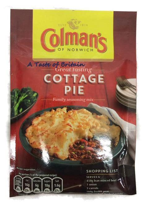 Sauce For Cottage Pie by Colman S Cottage Pie Sauce Mix A Taste Of Britain