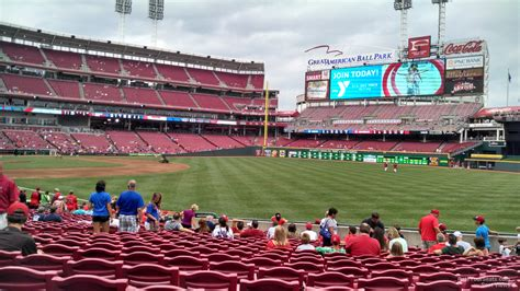 sectioned under 136 great american ball park section 136 cincinnati reds