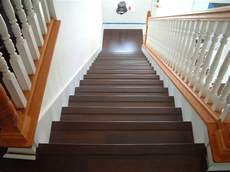hardwood flooring on stairs engineered lowes laminate installing house remodeling