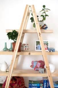 diy ladder shelves diy ladder shelves a pair a spare