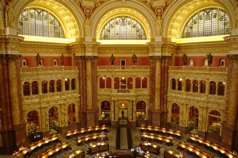 Library Of Congress Reading Room by Flickr Photo