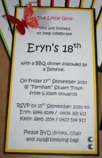 sle 18th birthday invitation wording 2 kel s kaszazz kaleidoscope 18th birthday invites