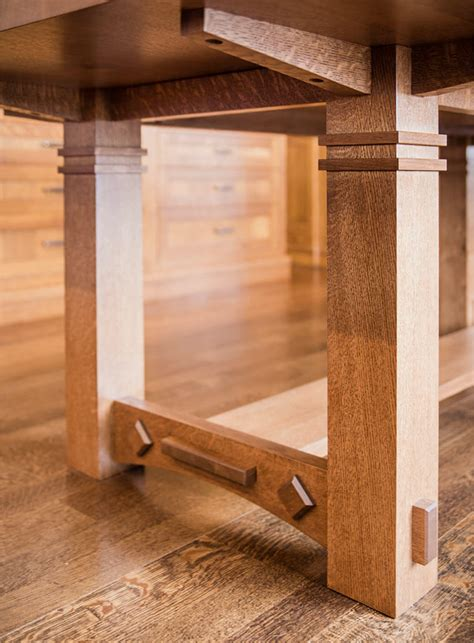 Craftsman Style Dining Room Table Gorgeous White Oak Dining Room Table Enhances This Craftsman Style Great Room Silent Rivers