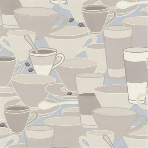 blue kitchen wallpaper uk p s home sweet home coffee cups saucers tea cafe kitchen