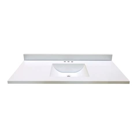 Woodnote Vanity Top by Woodnote Kitchens And Baths 49 In W X 22 In D White