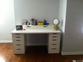 Makeup Desk White Ikea Bedroom Luxurious White Makeup Vanity With Drawers For