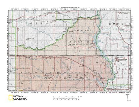 standing rock reservation map cannonball river grand river drainage divide landform origins standing rock indian reservation