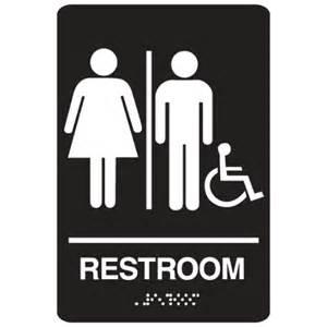 what is a unisex bathroom handicap accessible unisex bathroom braille sign